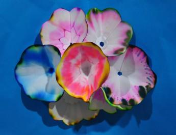 ช่อดอกไม้จากกระดาษกรองโดยการทำโครมาโทกราฟี